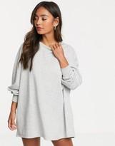 New Look sweat dress in gray