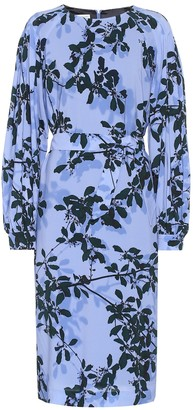 Dries Van Noten Floral stretch-crApe midi dress