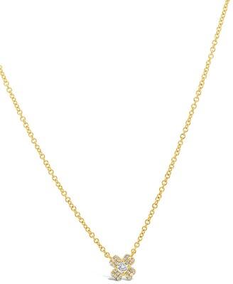 Ron Hami 14K Yellow Gold Diamond Clover Pendant Necklace - 0.10 ctw