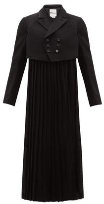 Noir Kei Ninomiya Tailored Jacket With Long Pleats - Black