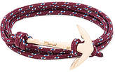 Miansai Gold Anchor On Rope in Burgundy.