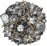 Barbie gunmetal-plated Swarovski crystal brooch