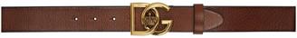 Dolce & Gabbana Brown Crossed Logo Belt