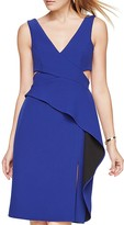 BCBGMAXAZRIA Cutout Ruffle Dress