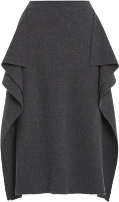 Stella McCartney Draped Wool Midi Skirt