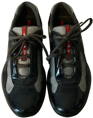 Prada Grey Patent leather Trainers
