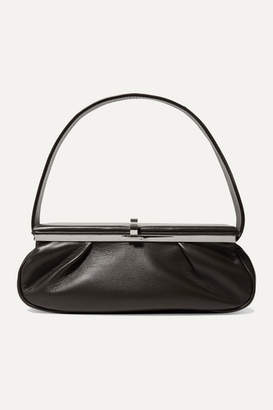 Victoria Beckham Powder Box Leather Tote - Dark brown
