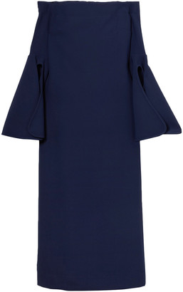 Ellery Gertie Off-the-shoulder Crepe Midi Dress