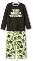 Boys' Sport Long Sleeve 2-Piece Pajama Set Black - Circo