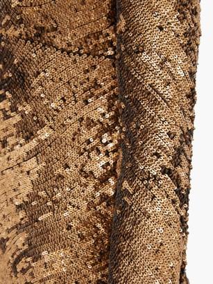 Maria Lucia Hohan Ailish Plunge-neckline Sequinned Maxi Dress - Bronze
