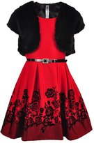 Beautees Big Girls' Belted Dress