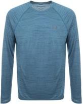 Under Armour Novelty Long Sleeved T Shirt Blue
