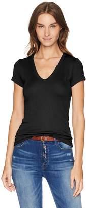 Enza Costa Women's Island Cotton Cap Sleeve U-Neck T-Shirt