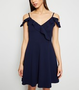 New Look Mela Cold Shoulder Ruffle Dress