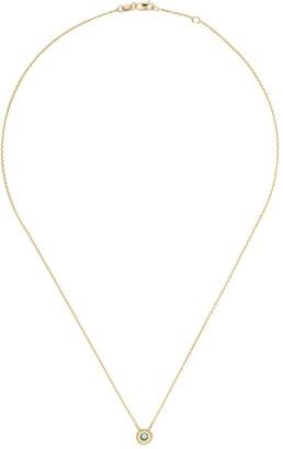 Botier 18kt yellow gold Eyes Wide Shut aquamarine pendant necklace