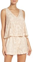 BB Dakota Women's Lace Popover Romper