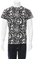 Christian Dior Scribble Print Crew Neck T-Shirt