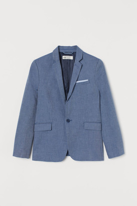 H&M Textured-weave Jacket - Blue