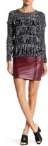 Romeo & Juliet Couture Faux Leather Lace Peek-a-Boo Mini Skirt