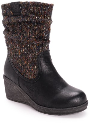 Muk Luks Palmer Women's Water Resistant Wedge Ankle Boots