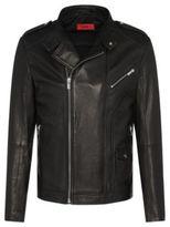 Hugo Boss Lonn Lambskin Moto Jacket M Black