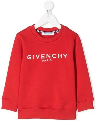 Givenchy Kids logo stamp sweatshirt