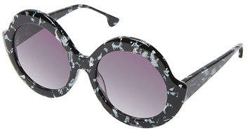 Alice + Olivia Stacey Notched Round Sunglasses