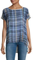 Two By Vince Camuto Plaid T-Shirt