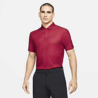 Nike Men's Striped Golf Polo Dri-FIT Tiger Woods