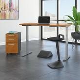 Möve 60 Series Height Adjustable Standing Desk Bush Business Furniture Color: Natural Cherry