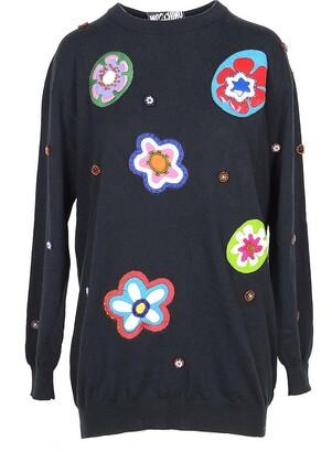 Moschino Black Cotton Women's Long Sweater