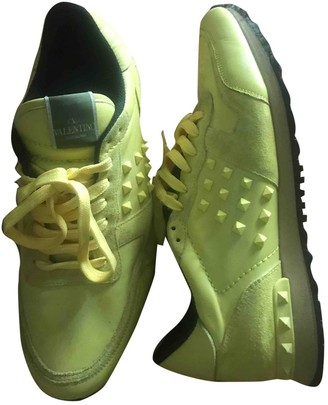 Valentino Rockrunner Yellow Suede Trainers