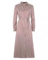 Jaeger Bold Striped Shirt Dress