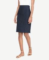 Ann Taylor Ponte Pinstripe Pencil Skirt