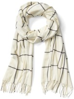 Gap Cozy windowpane scarf