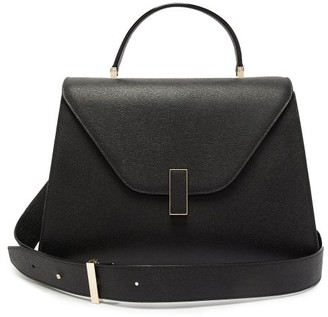 Valextra Iside Large Leather Top-handle Bag - Black