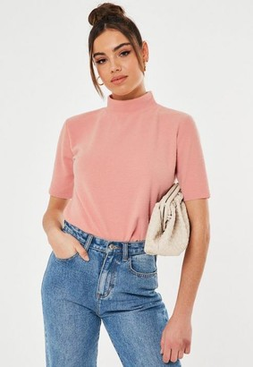 Missguided Brushed High Neck T Shirt