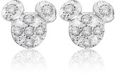 Disney Mickey Mouse Pave Icon Earrings Designer Jewelry Collection
