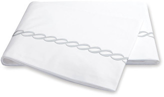 Matouk Classic Chain Flat Sheet - Silver Full/queen