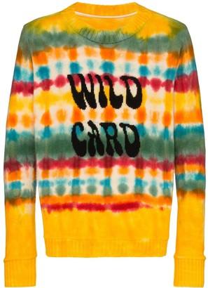 The Elder Statesman Wild Card tie-dyed cashmere jumper