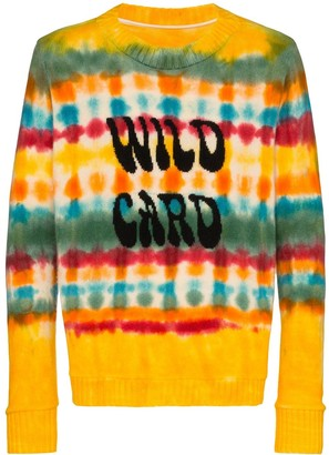 The Elder Statesman Wild Card tie-dyed cashmere jumper