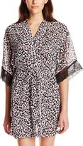 Cinema Etoile Women's Nancy Print Chemise and Robe Set