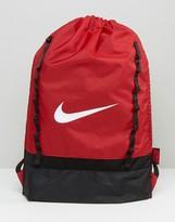 Nike Brasilia Draw String Backpack In Red Ba5079-605