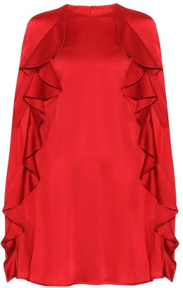 Valentino Crepe cape dress