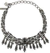 Oscar de la Renta Tulip Crystal Choker Necklace, Silver