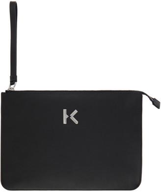 Kenzo Black Leather K Pouch