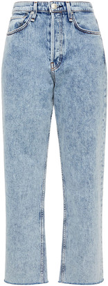 Rag & Bone Acid-wash High-rise Straight-leg Jeans
