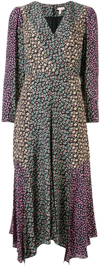 Rebecca Taylor mixed floral-print dress