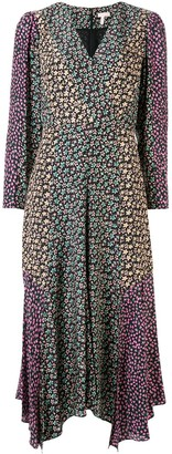 Rebecca Taylor mixed floral-print dress