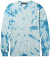 The Elder Statesman Billy Tie-dyed Cashmere Sweater - Blue
